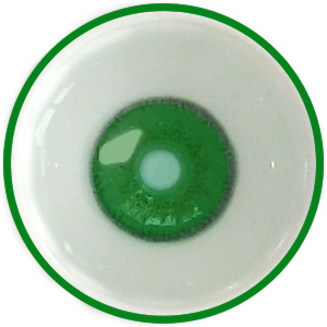 Koyu yeşil custom lens